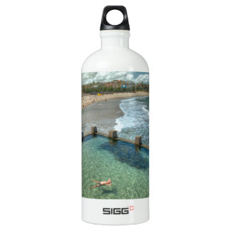 Not a care in the world- Coogee, Australia Aluminum Water Bottle