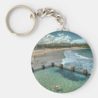 Not a care in the world- Coogee, Australia Basic Round Button Keychain