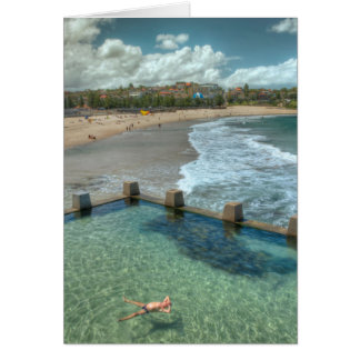 Not a care in the world- Coogee Australia Greeting Card