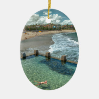 Not a care in the world- Coogee, Australia Ceramic Ornament