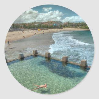 Not a care in the world- Coogee, Australia Classic Round Sticker