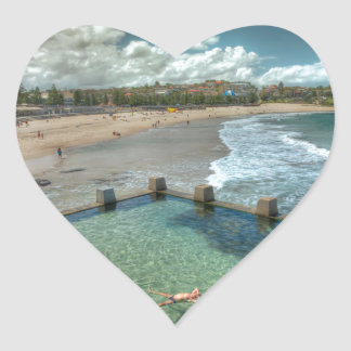 Not a care in the world- Coogee, Australia Heart Sticker