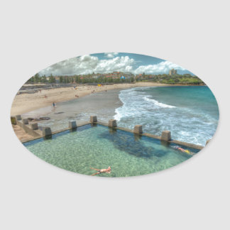 Not a care in the world- Coogee, Australia Oval Sticker