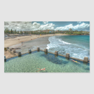 Not a care in the world- Coogee, Australia Rectangular Sticker