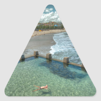 Not a care in the world- Coogee, Australia Triangle Sticker