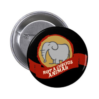 Not a circus animal 2 inch round button