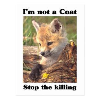 Not A Coat-Fox Postcard