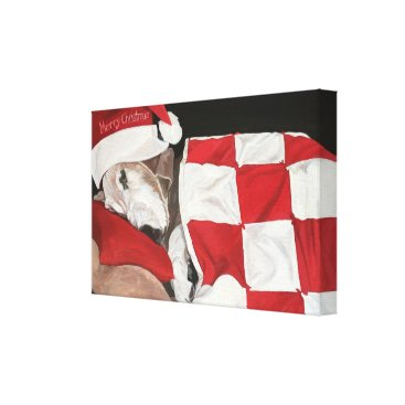 Art Themed Not a Creature was Stirring Canvas Print