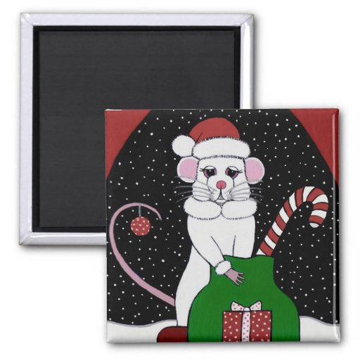"""""""Not A Creature Was Stirring"""" Mouse Magnet"""