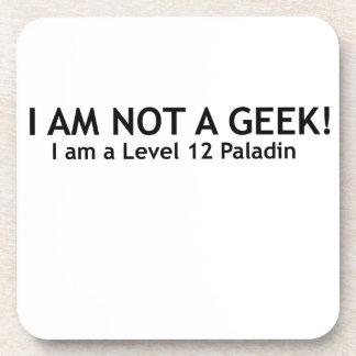 Not a geek, funny geeky shirt coaster