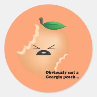 Not-A-Georgia-Peach Classic Round Sticker