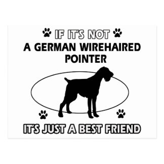 Not a german wirehaired pointer post cards