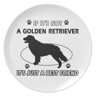 Not a golden retriever dinner plate