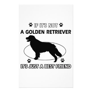 Not a golden retriever stationery paper