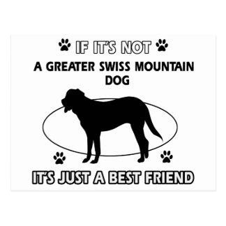 Not a greater swiss mountain dog postcard