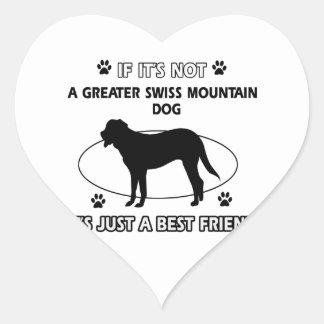 Not a greater swiss mountain dog heart sticker
