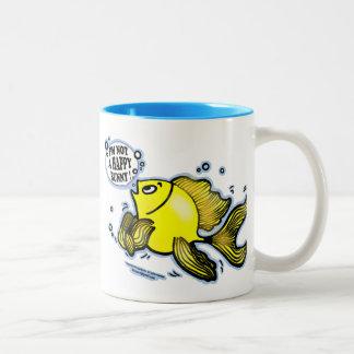Not a Happy Bunny Fish Two-Tone Coffee Mug