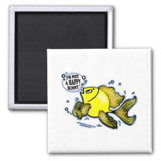 Not a Happy Bunny funny cute fish cartoon Magnet