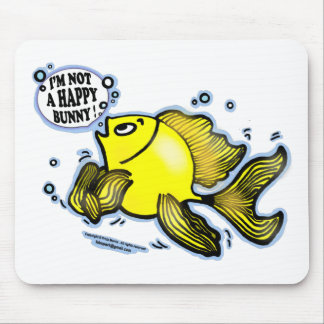 Not a Happy Bunny funny cute fish cartoon Mouse Pad