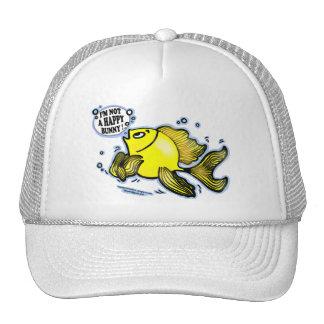 Not a Happy Bunny funny cute fish cartoon Trucker Hat