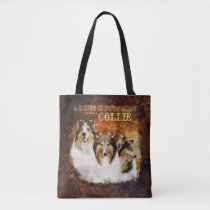 Not a Home w/o Collie, Portrait & Scene, Country - Tote Bag