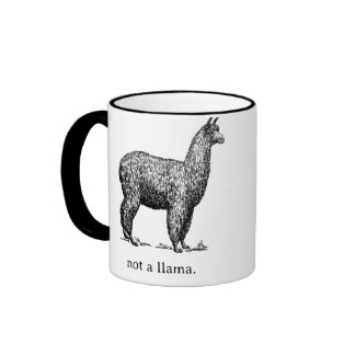 Not a Llama Ringer Coffee Mug