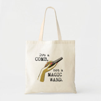 Not a Magic Wand Hair Stylist Tote Canvas Bags