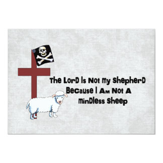 Not A Mindless Sheep 5x7 Paper Invitation Card
