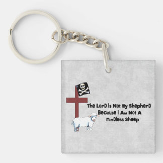 Not A Mindless Sheep Single-Sided Square Acrylic Keychain