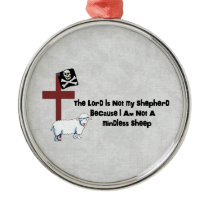 Not A Mindless Sheep Metal Ornament