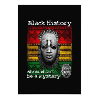 Not A Mystery BHM Party Invitations