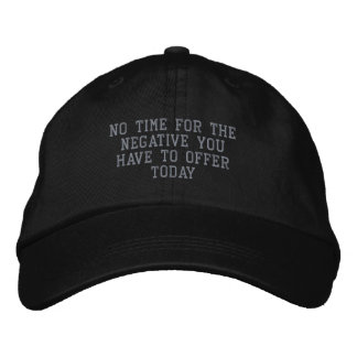 Not a Negative Day_ Embroidered Hat_by Elenne Embroidered Hat