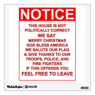 not a PC house Wall Sticker