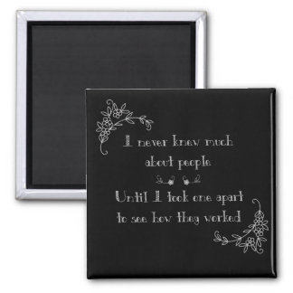 Not a People Person 2 Inch Square Magnet