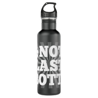 Not a Plastic Bottle, Recycled Personalized Water 24oz Water Bottle