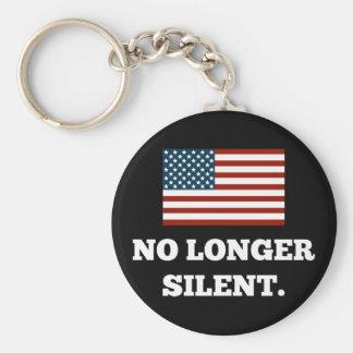 Not a Racist. Not Violent. No Longer Silent. Keychain