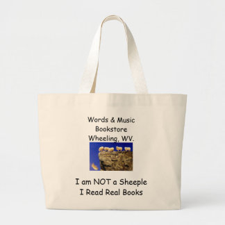 not a sheeple book tote canvas bags