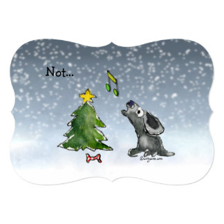 Not... a Silent Night Christmas Dogs Cartoon Card