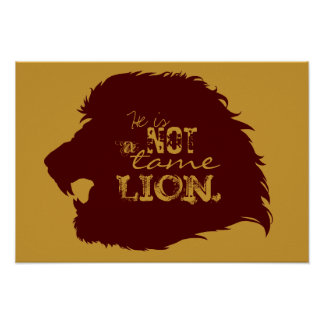 Not a Tame Lion Poster