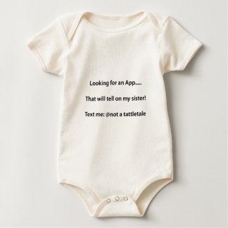 Not a tattletale baby bodysuit