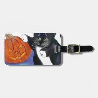 Not a very Scary Halloween Pumpkin Bag Tags