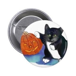 Not a very Scary Halloween Pumpkin Pinback Button