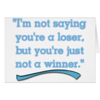 NOT A WINNER CARD
