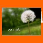 Not a Wish, Christian Birthday Card