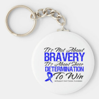 Not About Bravery - Anal Cancer Key Chain