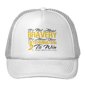 Not About Bravery - Appendix Cancer Mesh Hat