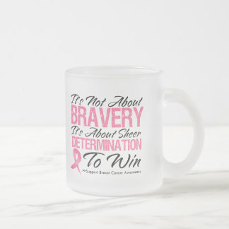Not About Bravery - Breast Cancer 10 Oz Frosted Glass Coffee Mug