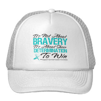 Not About Bravery - Cervical Cancer Trucker Hats