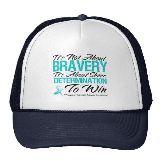 Not About Bravery - Cervical Cancer Trucker Hat
