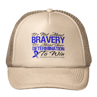 Not About Bravery - Colon Cancer Hat